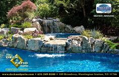 Have a pool & hot tub with a waterfall