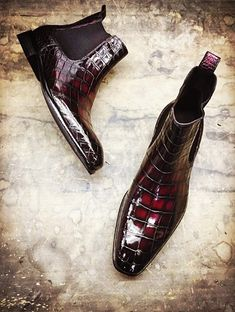 Alligator boots for sale Men's Shoes, Shoe Boots, Dress Shoes, Shoes Men, Alligator Boots, Man About Town, Chelsea Ankle Boots, Leather Skin, Clean Shoes