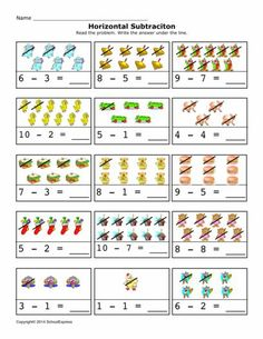 FREE worksheets, create your own worksheets, games. Addition And Subtraction Practice, Addition Worksheets, Subtraction Worksheets, Kindergarten Math Worksheets, Reading Worksheets, Preschool Activities, Free Worksheets, Math Boards, Simple Math