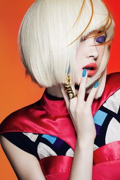 .hair editorial - colorful highlights - fashion hair style - chicquero platinum 11