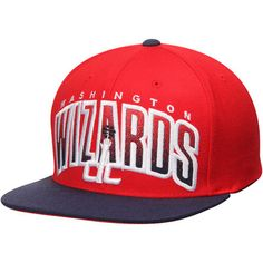 Washington Wizards Mitchell & Ness Current Logo Double Bonus Adjustable Hat - Red/Navy