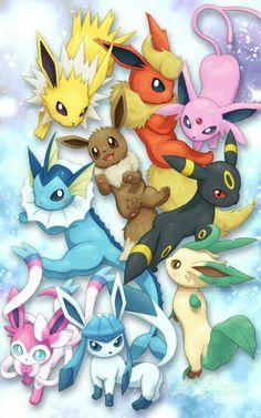 Pokemon Rules, Pokemon Fan Art, Pokemon Stuff, Pokemon Eeveelutions, Eevee Evolutions, Eevee Wallpaper, Shiny Eevee, Cute Kawaii Animals, Cute Animal Drawings