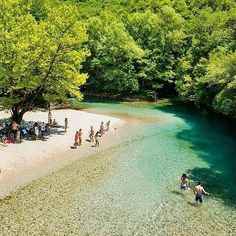 Voidomatis River in Epirus Western Greece