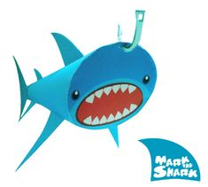 Blog Paper Toy papertoy Mark The Shark PaperBoxWorld pic Mark The Skark by PaperBoxWorld