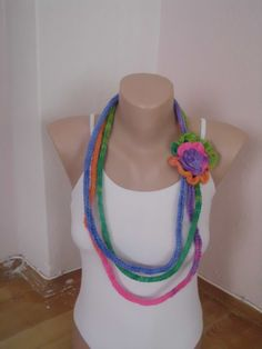 Crochet  multicolored lariat scarf/necklace by redrosewholesaler #etsy #etsyfinds #etsygifts #etsyfashion