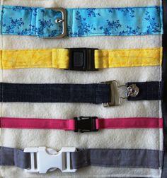 Motricité fine: les différentes sortes de ceintures...