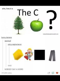 ((At first I thought it was who live in the c pine apple question. Then sponge bob the builder square trousers...))
