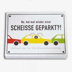 Revier Souvenir Scheisse Geparkt Haftnotizen