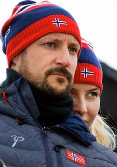 Norwegian Crown Prince Haakon and Crown Princess Mette-Marit, at the Nordic World Ski Championships in Falun, Sweden, 28.02.2015.