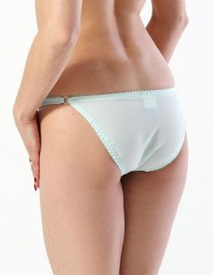 Pin It! :) Click Image Twice For More Info and Pricing :) #women #panties #lingerie #lace #lace #sexylingerie #intimates #silk #satin #thong #undergarment #honeymoon #satin #hipster #sheerpanties see more sheer panties at   http://zpanties.com/category/panties-categories/sheer-panties/ - What Katie Did Clarice Eau De Nil Knickers L2071 6 US / 8 UK « Z Panties