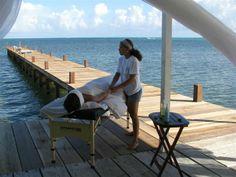 Ocean massage on dock