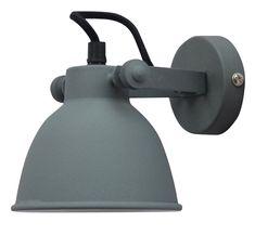 Bestel de Grijze, industriële wandlamp Feres op Lampgigant.nl ✓ Snel gratis bezorgd ✓ Grootste collectie in NL & BE!