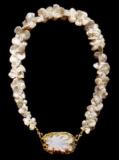Marianne Hunter - 24K Gold, Oregon Opal and Diamond Necklace.