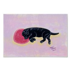 Black Labrador Sleeping
