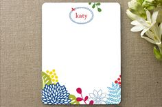 Personalized Stationery from minted. I love the bright, bold colors.
