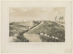 The siege of Vicksburg, the fight in the crater of Fort Hill, after the explosion, June 25, 1863  Print shows Union soldiers in trench and behind wooden walls and gabions as an assault is made on Fort Hill during the siege of Vicksburg, Mississippi
