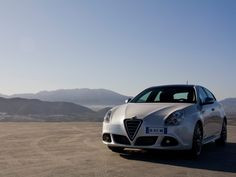 Alfa Giulietta over the mountains.