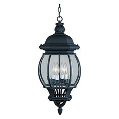 Maxim Crown Hill Outdoor Hanging Lantern - 26H in.