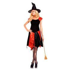 Fantasia Halloween Vestido De Bruxa Laranja E Preto