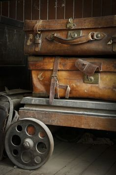 Vintage Luggage on Trolley