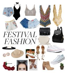 """Festival Fashion"" by chopchop17 on Polyvore featuring Converse, Missoni Mare, Radley, Boohoo, Coco de Mer, House of Holland, Antik Batik, Proenza Schouler, Hollister Co. and Sole Society"