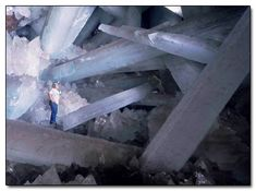This would be the Cueva de los Cristales in the Naica Mine of Chihuahua, Mexico (Crystal Cave)