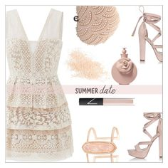 """""""Summer date"""" by simona-altobelli ❤ liked on Polyvore featuring BCBGMAXAZRIA, River Island, Glam Cham, Kendra Scott, Eve Lom, Valentino, NARS Cosmetics, Pink, polyvorecontest and summerdate"""