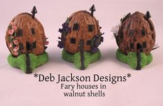 Pic 1 of 2: Tiny fairy house in a walnut shell,furnished... 120.00, via Etsy.