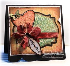 "Jen Shults using Verve stamps ""With Gratitude"", Feb. 2013"