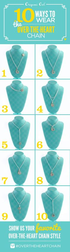 Here are 10 ways to rock the Origami Owl #OverTheHeartChain! How do you wear yours?! https://brookepope.origamiowl.com/shop/party/237962