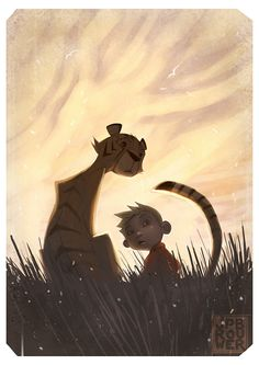 Calvin and Hobbes by James Brouwer