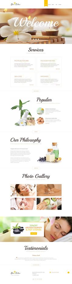 Spa & Relax Services #WordPress #template. #themes #business #responsive