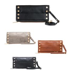 """Hammitt's """"Ryan"""" Clutch is the perfect addition to any outfit. Luckily we have one in any color that you might need. #hammitt #bag #purse #clutch #accessory #accessories #accessorize #leather #luxury #organize #neutral #musthave #willow #willowboulder #willowmusthave"""