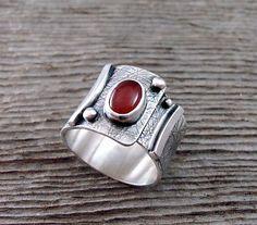 Realm Band: Delias Thompson: Silver & Stone Ring   Artful Home