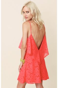 Blu Moon Coral Lace Summer Lovin Dress