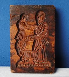 .springerle cookie mold father & child
