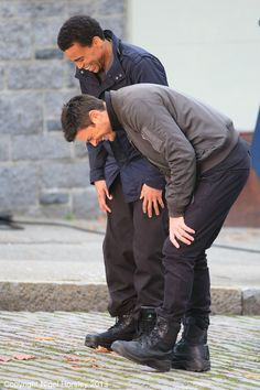 Almost Human, Karl Urban and Michael Ealy - Pinned just because it makes me smile. :) See?