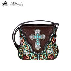 Hipster Montana West Handbag Crossbody Spiritual bag Cowgirl Purse Coffee