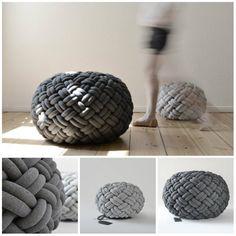 Good Ideas For You   Knotty Floor Cushion & Pillows by Kumeko