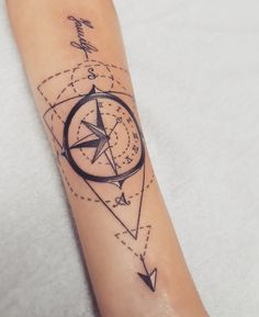 Compass tattoo by moma