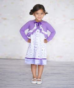 Another great find on #zulily! Purple Lena Dress & Bolero - Infant, Toddler & Girls by Jelly the Pug #zulilyfinds