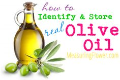 How to Identify and Store Real Olive Oil - Measuring Flower Thm Recipes, Real Food Recipes, Healthy Recipes, Healthy Meal Prep, Eating Healthy, Cooking Tips, Cooking Recipes, Nutrition Articles, Diy Food