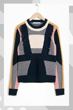 Keep things interesting with unexpected color combos and fringe details. #refinery29 http://www.refinery29.com/best-fall-sweaters#slide-7