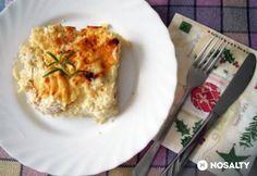 Háromsajtos csirkemell burgonyapürén sütve Quiche, Food And Drink, Cooking, Breakfast, Kitchen, Morning Coffee, Quiches, Brewing, Cuisine