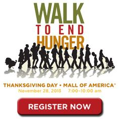 Since its inception in 2008, the Walk to End Hunger has raised nearly $1.2 million to help support the 12 partner hunger relief organizations that work together to eliminate hunger in the Twin Cities metro area, including Second Harvest Heartland. Register today for this year's walk at 2harvest.org/walk