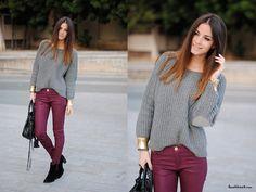 Na moda: Waxed! As calças enceradas para o inverno 2012!   calca encerada vinho borgonha inverno 2012