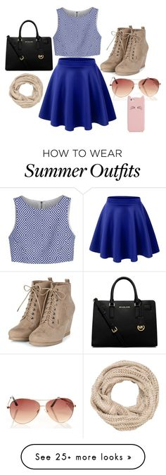 """""""Summer Outfit Girly"""" by milliebreen on Polyvore featuring Alice + Olivia, MICHAEL Michael Kors, maurices and Kate Spade"""