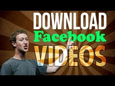 How To Download Facebook Videos Without Using Any Softwares 2014 - YouTube