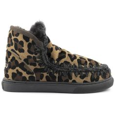 Mou Boots Mini Eskimo Sneaker Women All Leopard Chocolate - MOU #mou #boots #mouboots #sneaker #women #fashion