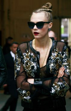 Cara Delevingne Is Front Row at the Chanel Couture Show-Wmag